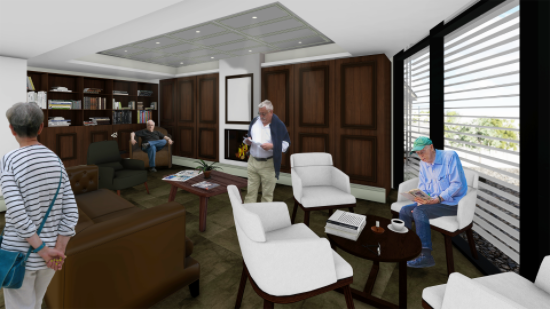 Riverview Carrington assisted living Camden relaxation room